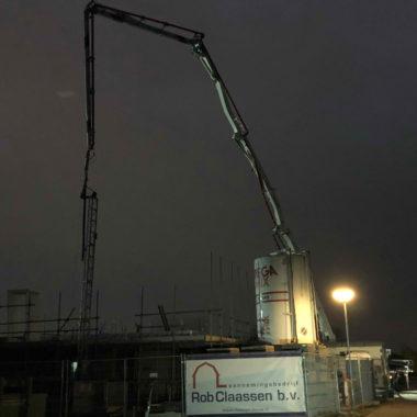 Vrijstaande woning te Stiphout: eerste dek is gestort